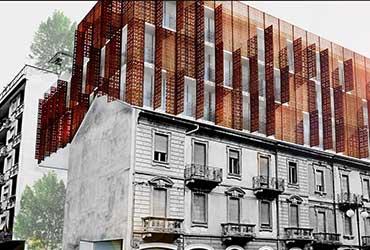 بازسازی نمای ساختمان اداری مشکونی
